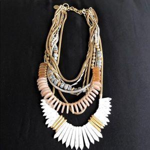 Stella & Dot Jewelry - Pink and White Stone Stella & Dot Necklace